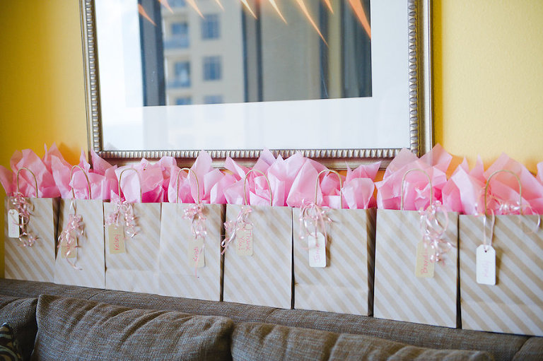 Pink, Ivory and Gold Bridesmaid Gifts