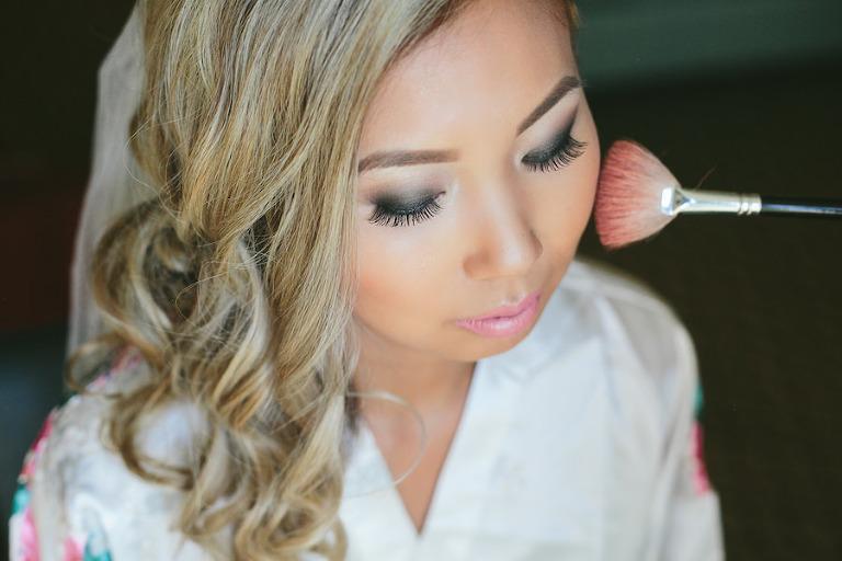 Glamorous, Smokey Eye Bridal Wedding Day Makeup