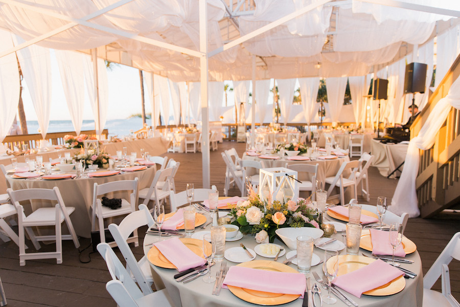 Romantic Elegant Wedding Reception Decor With Pink Peach And Ivory