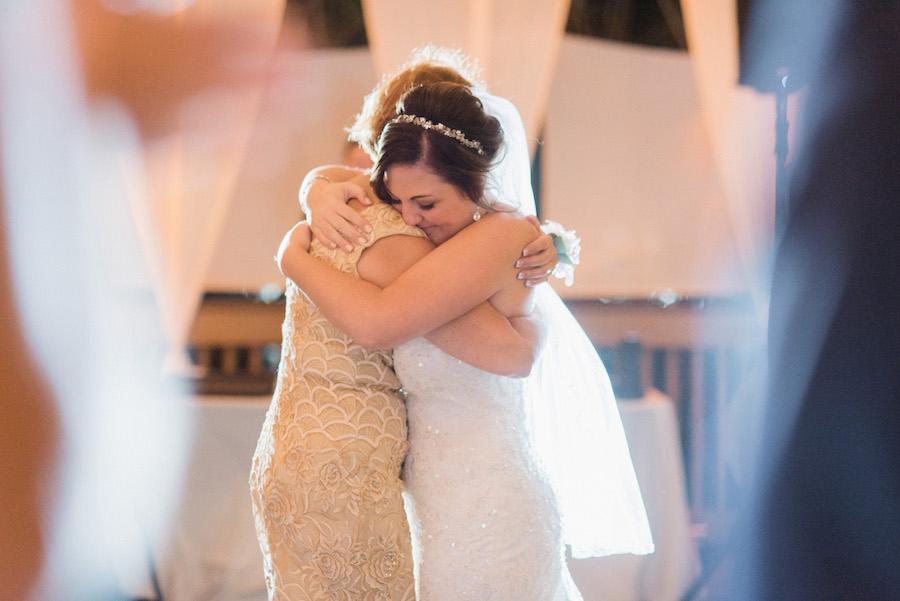 Mother/Daughter First Dance Wedding Portrait | Strapless White Beaded Morilee Madeline Gardner Wedding Dress