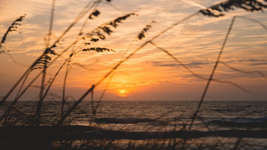 Florida Outdoor Waterfront Wedding Reception At Sunset On Treasure