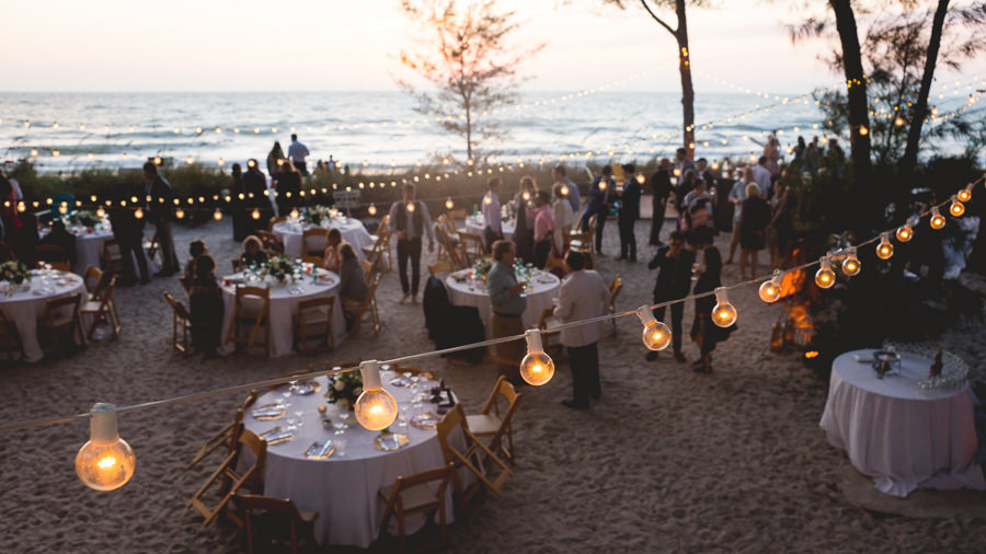 Florida Outdoor Waterfront Wedding Reception On Treasure Island