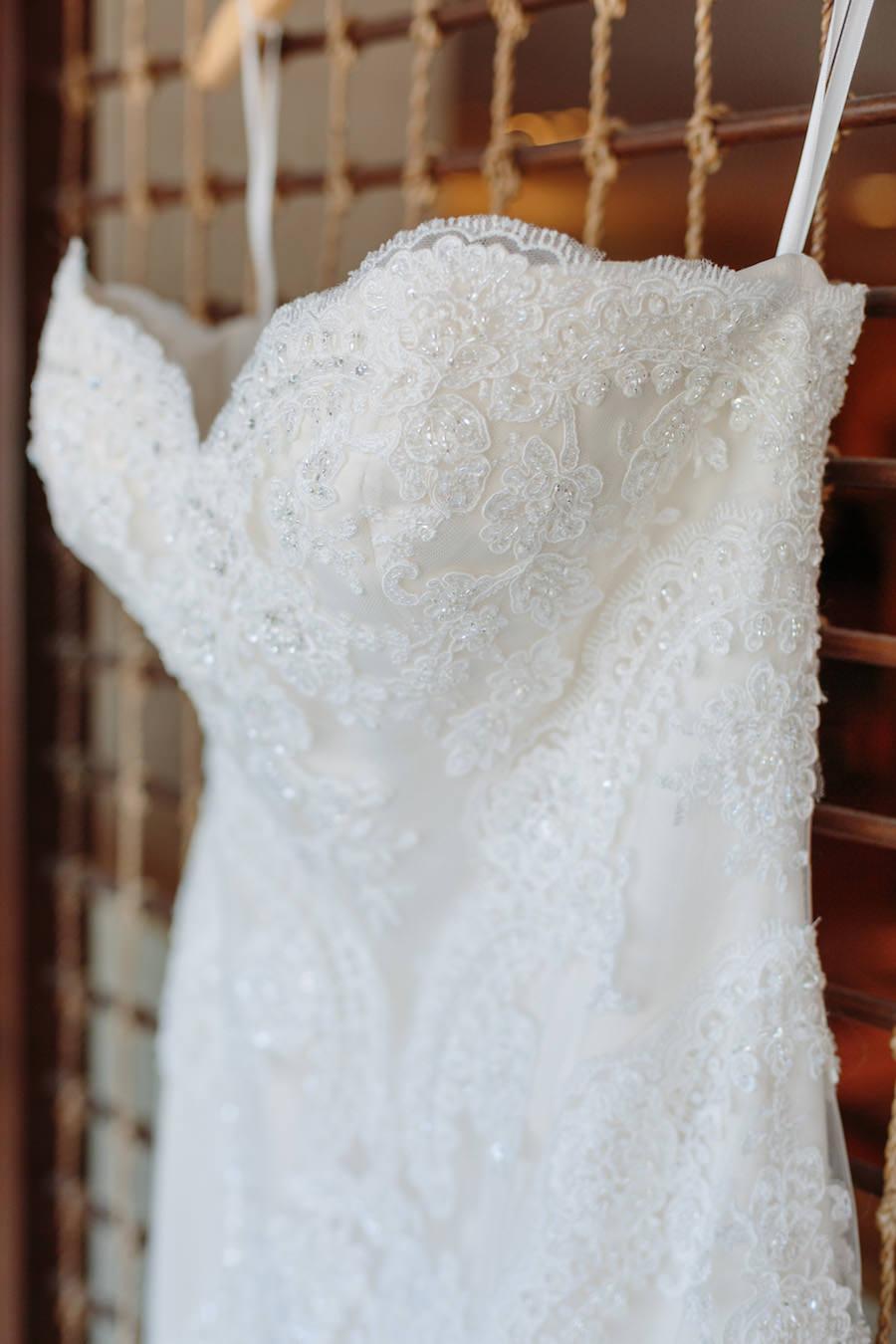 Ivory Beaded Lace Sweetheart Wedding Dress