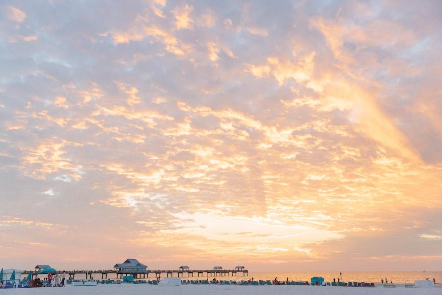 Clearwater Beach Destination Wedding Pier Sunset