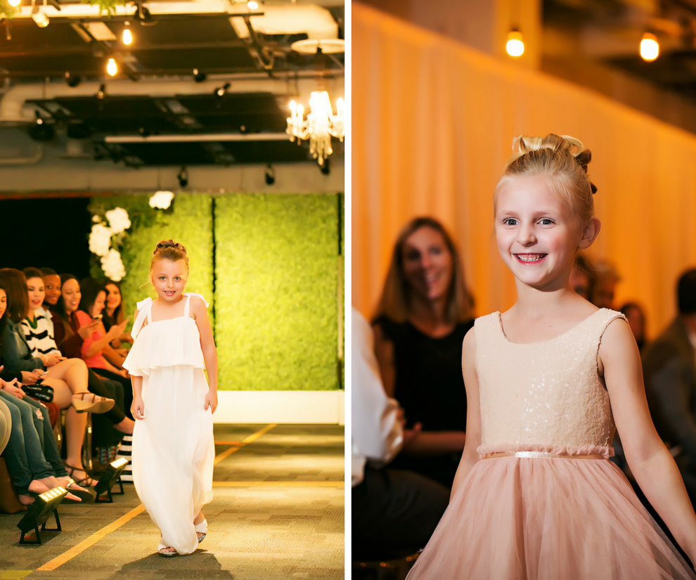 White Boho Flower Girl Dress and Blush Pink Ballerina Style Tulle Dress | Marry Me Tampa Bay Wedding Week Bridal Fashion Runway Show | Tampa Bay Wedding Photographer Limelight Photography | Wedding Planner Glitz Events