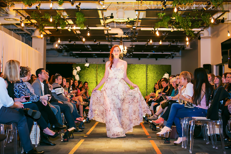 Pastel Floral Jenny Yoo Inesse Bridesmaid Dress | Marry Me Tampa Bay Wedding Week Bridal Fashion Runway Show | Tampa Bay Wedding Photographer Limelight Photography | Wedding Planner Glitz Events | Hair and Makeup Artist Michele Renee The Studio