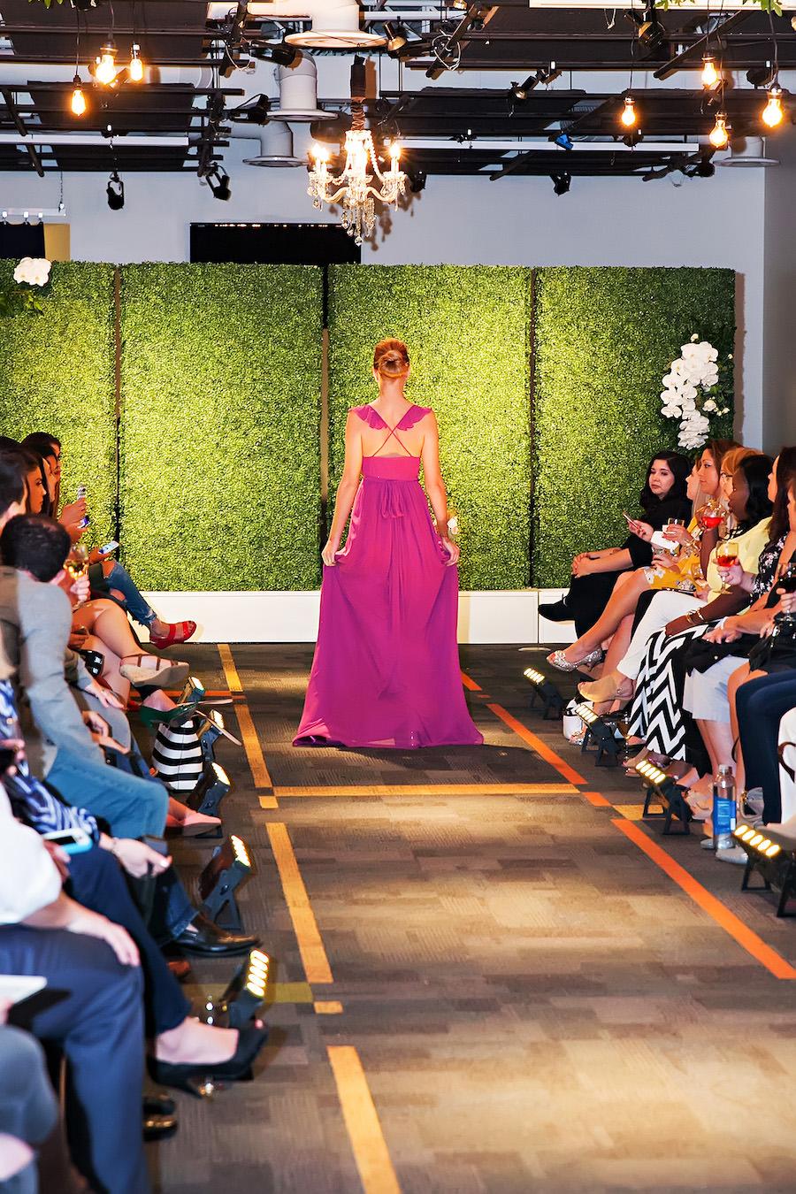 Bright Pink Magenta Bridesmaid Dress | Marry Me Tampa Bay Wedding Week Bridal Fashion Runway Show | Tampa Bay Wedding Photographer Limelight Photography | Wedding Planner Glitz Events | Hair and Makeup Artist Michele Renee The Studio