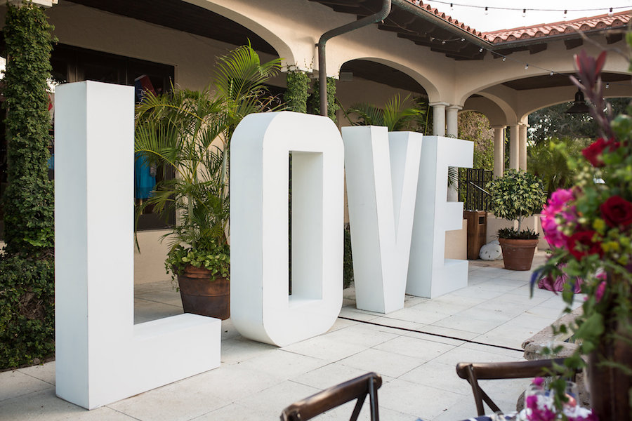 Oversized Large LOVE Letters | Modern Unique Wedding Reception Decor
