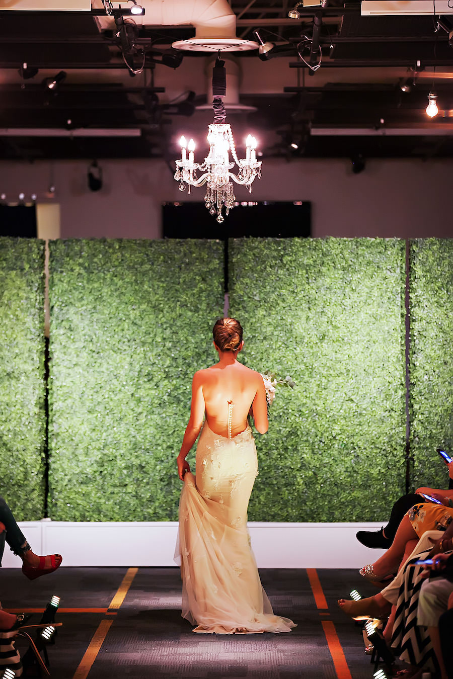 Open Back Wedding Dress | Marry Me Tampa Bay Wedding Week Bridal Fashion Runway Show | Tampa Bay Wedding Photographer Limelight Photography | Wedding Planner Glitz Events | Hair and Makeup Artist Michele Renee The Studio | Couture Wedding Dress Shop Isabel O'Neil Bridal