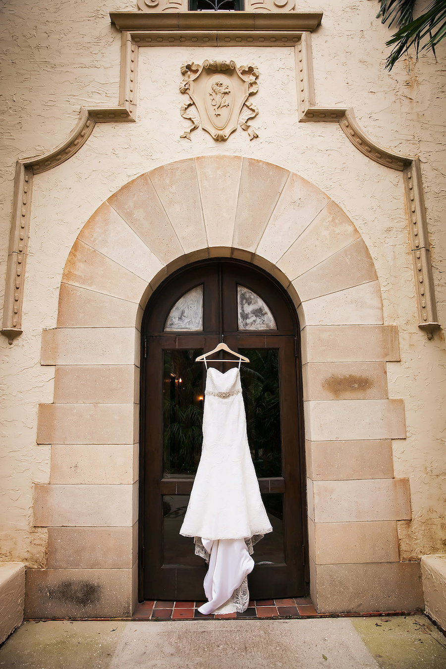 Ivory Anna Maier Strapless Wedding Gown with Beaded Sash at Powel Crosley Estate   Tampa Bay Photographer Limelight Photography