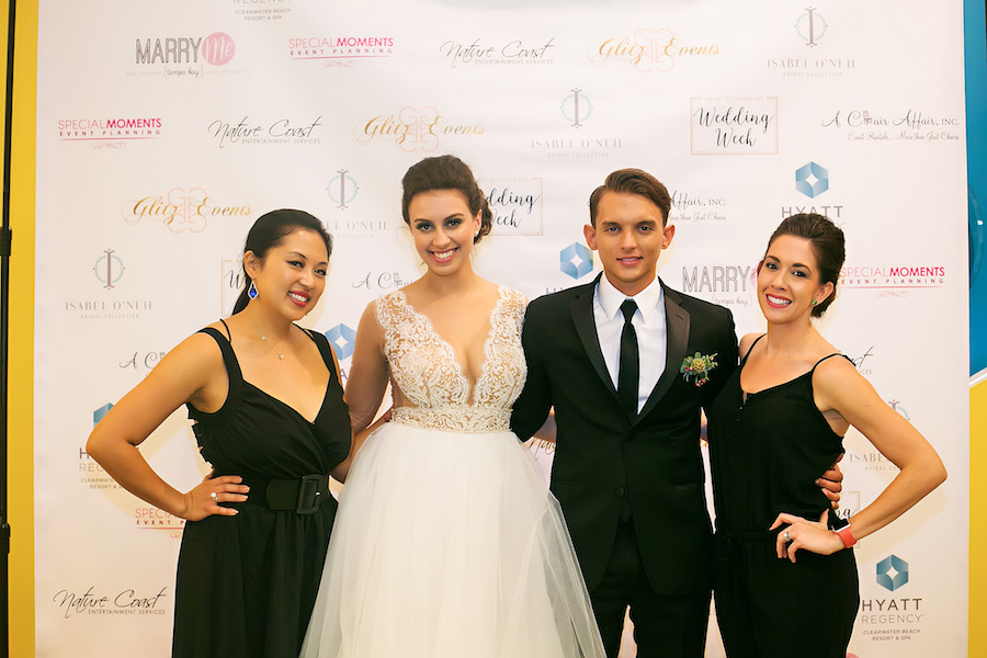 Marry Me Tampa Bay Wedding Week Bridal Fashion Runway Show | Tampa Bay Wedding Photographer Limelight Photography | Wedding Planner Glitz Events | Hair and Makeup Artist Michele Renee The Studio | Couture Wedding Dress Shop Isabel O'Neil Bridal