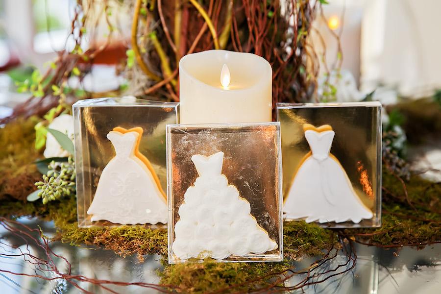 Wedding Dress Bride Cookie Favor | Tampa Bay Wedding Cake Baker The Artistic Whisk
