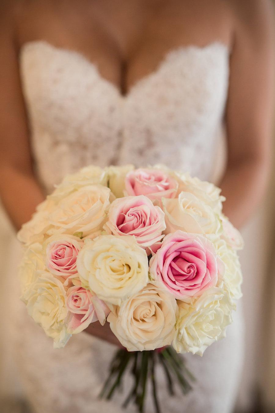 Traditional & Elegant Ivory and Blush Pink Bridal Wedding Bouquet