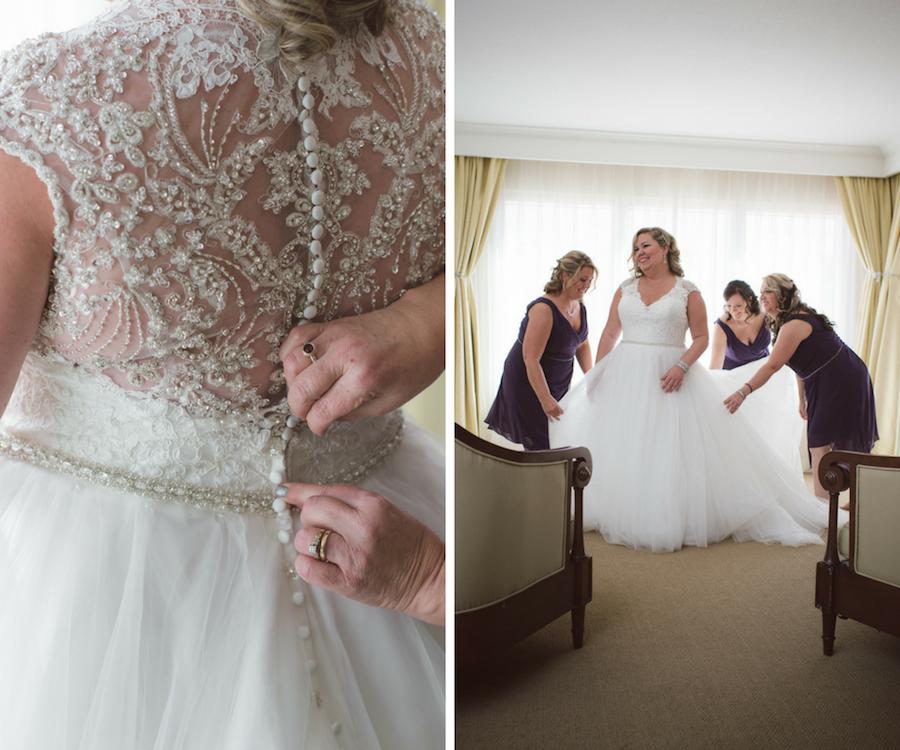 Bridal Getting Ready Portrait with Bridesmaids at Clearwater Beach Wedding Venue Hyatt Regency Clearwater Beach