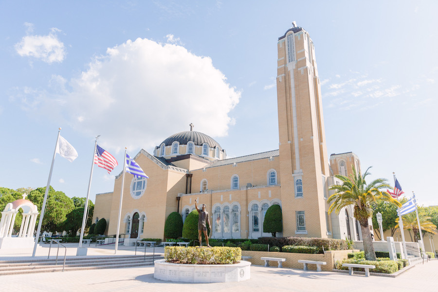 Greek Church Wedding Ceremony Venue St. Nicholas Greek Orthodox Cathedral in Tarpon Springs Florida
