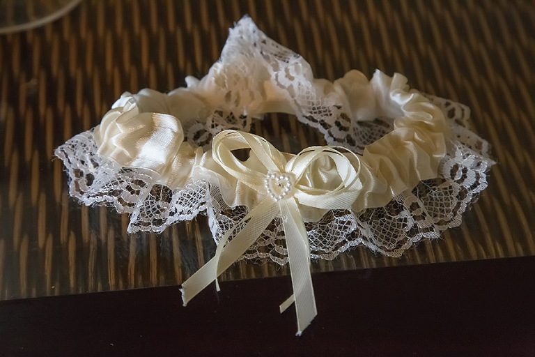 Ivory Pearl and Lace Bridal Wedding Garter