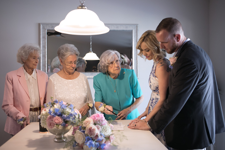 Memorable Tampa Bay Wedding Day Mother Daughter Moments | Mother Daughter Wedding Day Portrait by Tampa Bay Wedding Photographer Carrie Wildes Photography