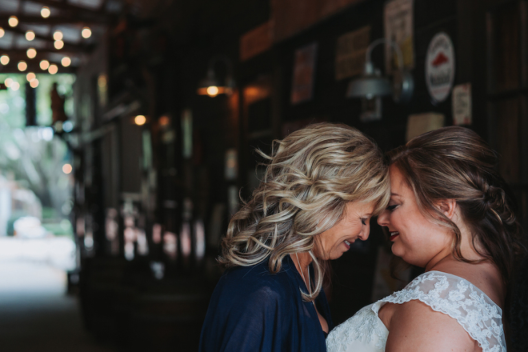 Memorable Tampa Bay Wedding Day Mother Daughter Moments   Mother Daughter Wedding Day Portrait by Tampa Bay Wedding Photographer Grind and Press Photography
