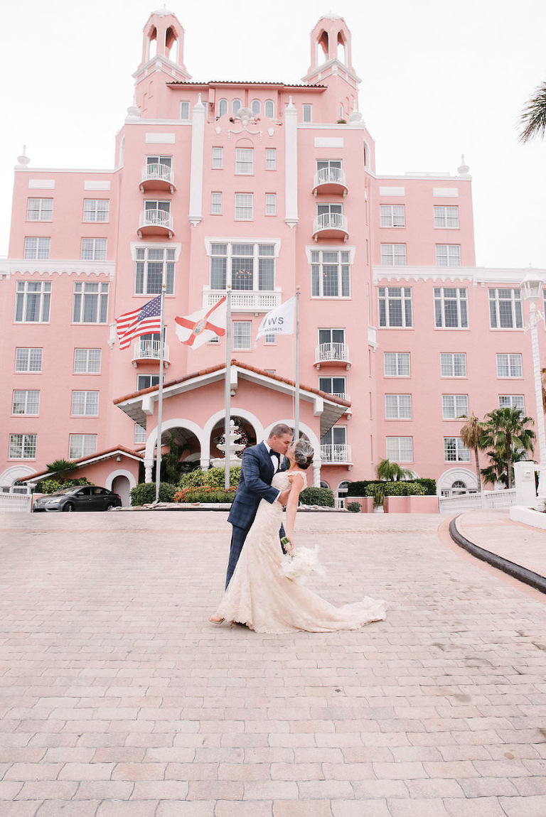 Bride and Groom Wedding Portrait | St. Petersburg Wedding Venue The Don CeSar | Tampa Bay Wedding Photographer Jonathan Fanning Studio and Gallery
