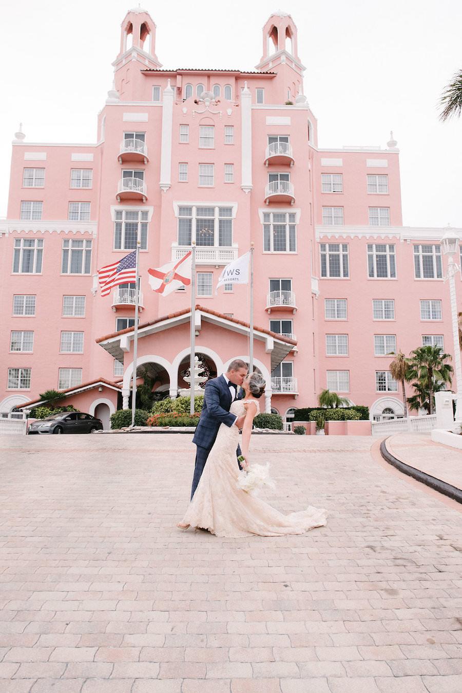 Bride and Groom Wedding Portrait   St. Petersburg Wedding Venue The Don CeSar   Tampa Bay Wedding Photographer Jonathan Fanning Studio and Gallery