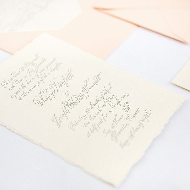 Tampa Bay Wedding Stationery and Custom Letterpress Design | AP Design Co Custom Wedding Invitations