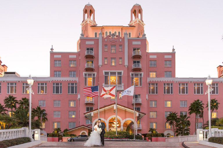 Iconic St. Pete Beach Hotel Wedding Venue The Don CeSar Wedding Portrait | St. Petersburg Wedding Photographer Brandi Image Photography | Planner Parties a la Carte