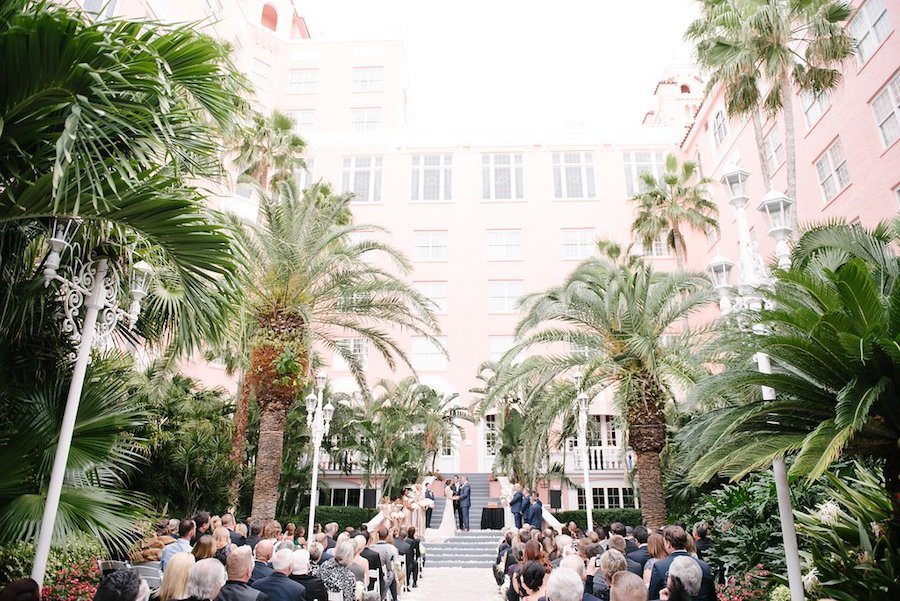 Outdoor, St. Pete Beach Bride and Groom at Wedding Ceremony   St. Petersburg Wedding Venue The Don CeSar   Tampa Bay Wedding Photographer Jonathan Fanning Studio and Gallery