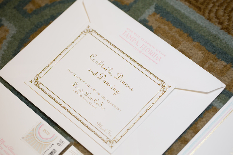 1920s Great Gatsby Themed Wedding Gold Wedding Stationery & Invitations | Tampa Bay Custom Wedding Invities URBANcoast