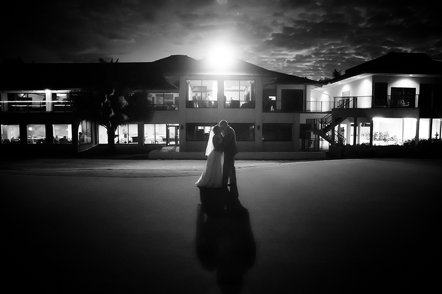 Bride and Groom Golf Course Wedding Portrait at Countryside Country Club | Clearwater Wedding Photographer Brian C. Idocks Photographics