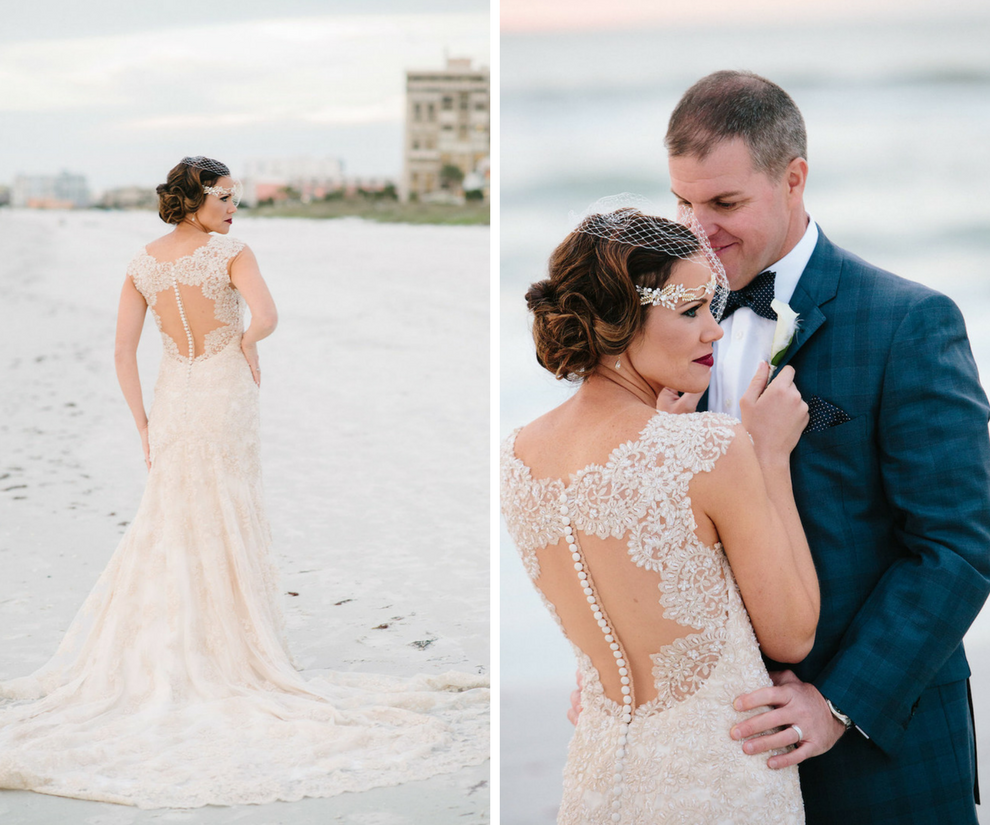 Outdoor, St. Pete Beach Bride and Groom Wedding Portrait   St. Petersburg Wedding Venue The Don CeSar   Tampa Bay Wedding Photographer Jonathan Fanning Studio and Gallery