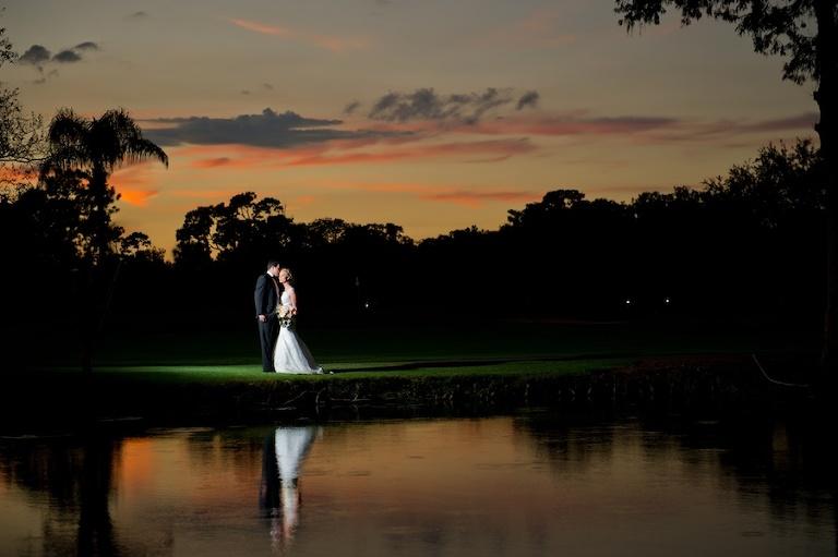 Tampa Bay Bride and Groom Sunset Wedding Day Portrait | Tampa Bay Wedding Photographer Andi Diamond Photography