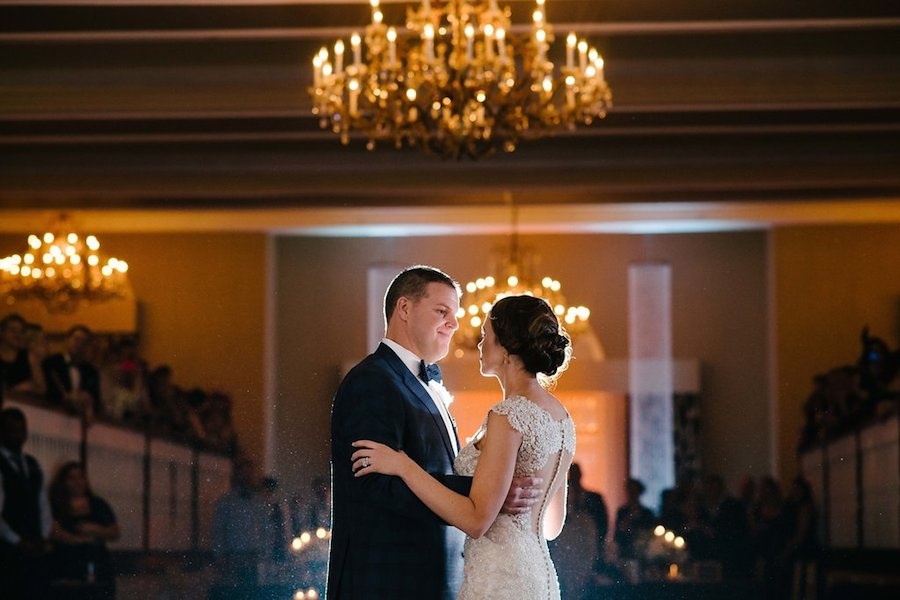 Bride and Groom First Dance Wedding Portrait   St. Petersburg Wedding Venue The Don CeSar   Tampa Bay Wedding Photographer Jonathan Fanning Studio and Gallery