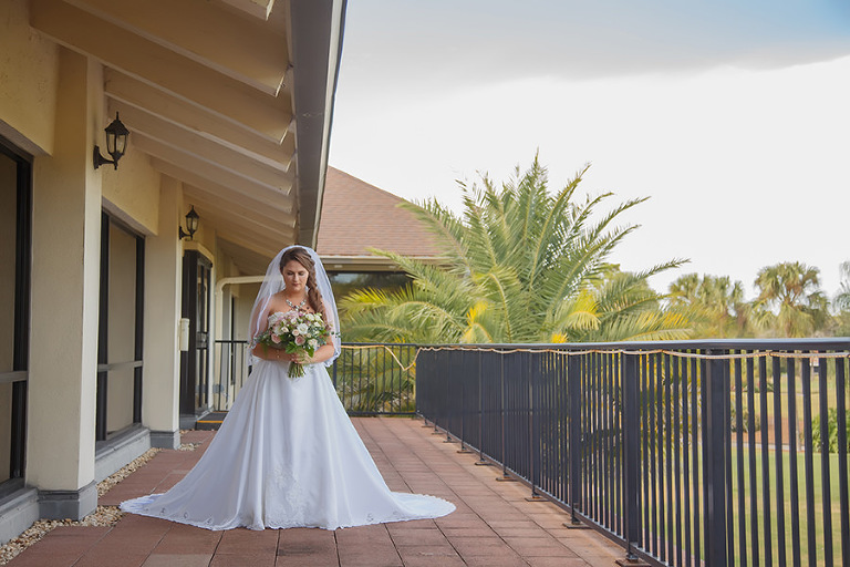 Outdoor Wedding Bridal Portrait | Clearwater Wedding Venue Countryside Country Club | Tampa Bay Wedding Photographer Brian C. Idocks Photographics