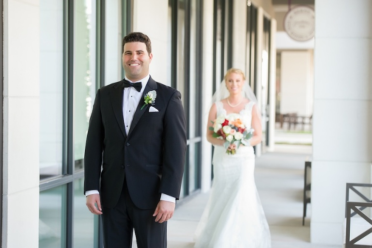 Bride and Groom First Look Wedding Day Portrait | Tampa Bay Wedding Photographer Andi Diamond Photography