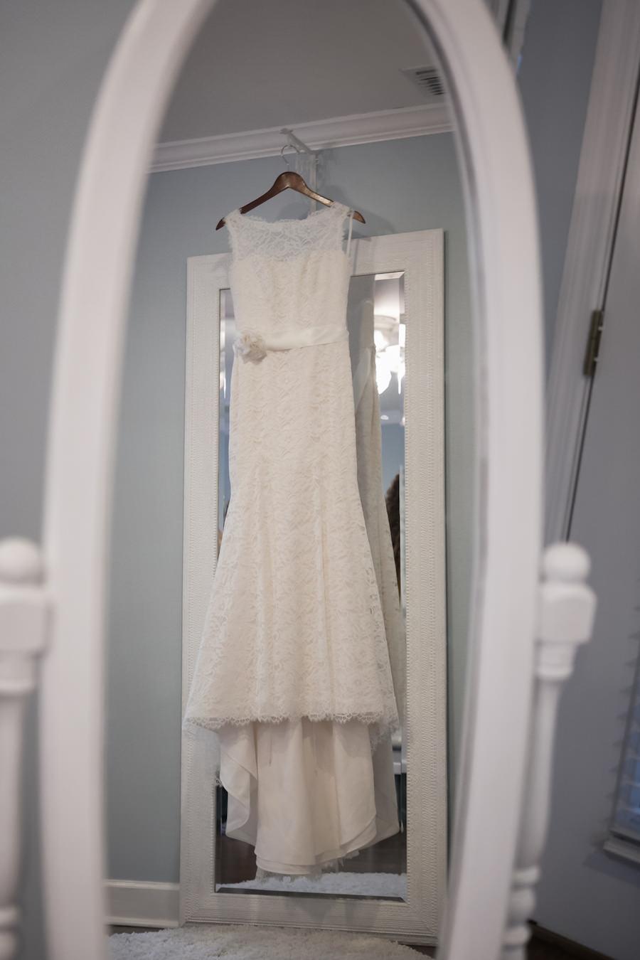 Miakella Bridal Lace Off the Shoulder Wedding Dress