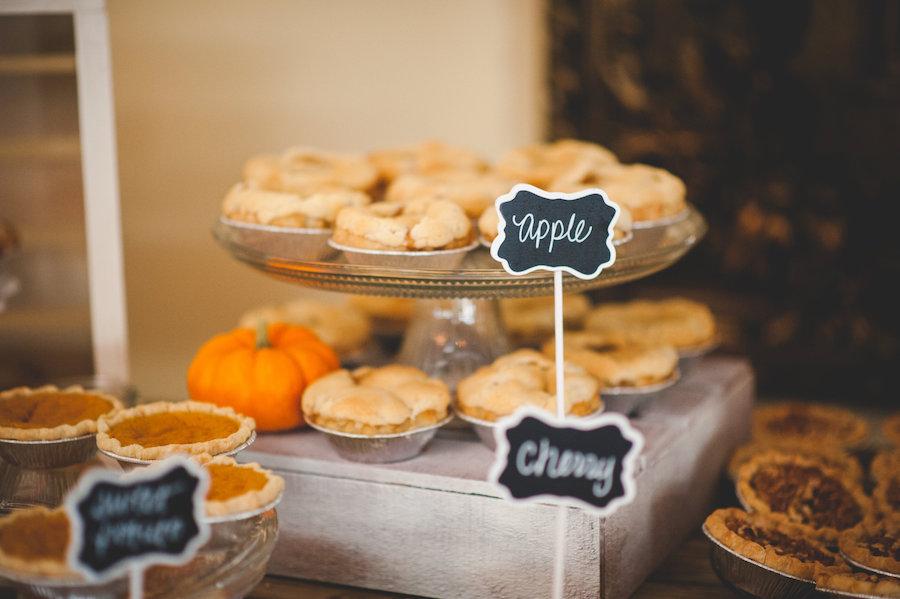 Wedding Cake Dessert Alternatives | Wedding Pie Table
