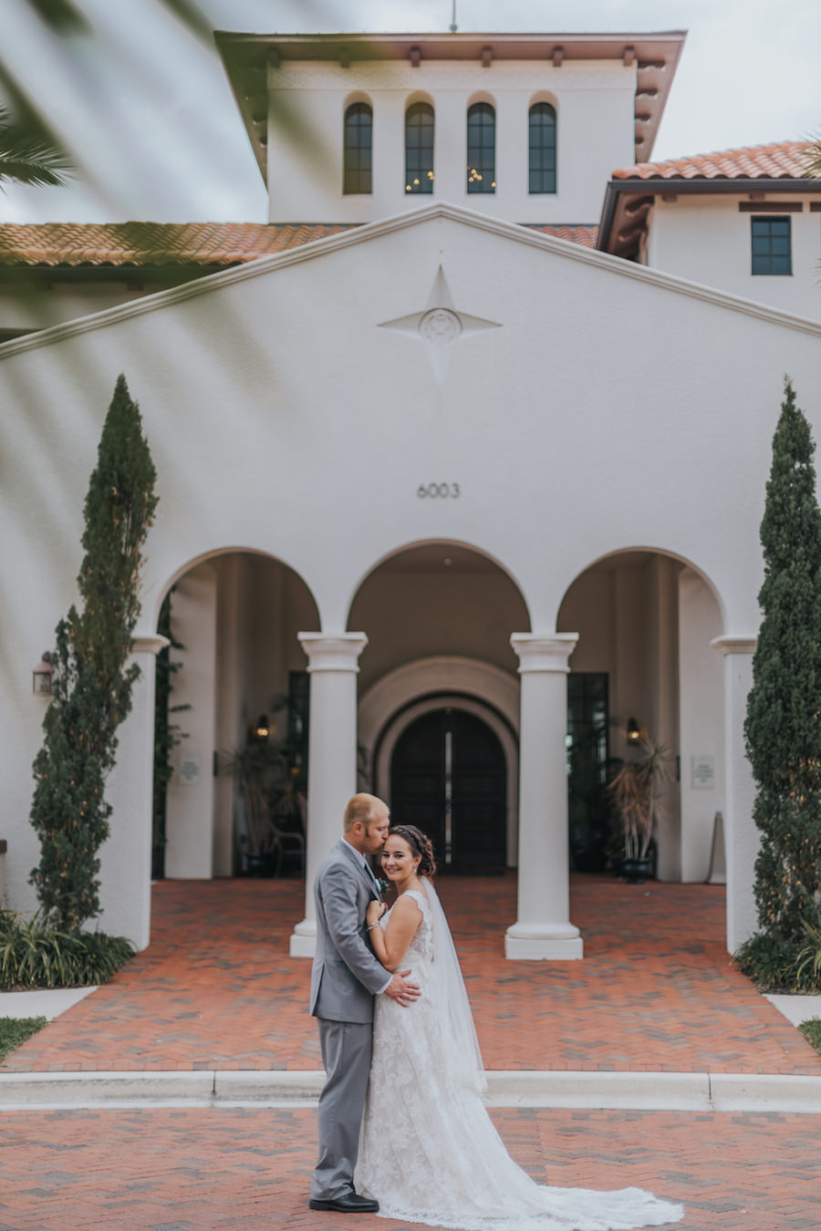 Outdoor Tampa Bay Bride and Groom Wedding Portrait at Westshore Yacht Club | South Tampa Wedding Venue Westshore Yacht Club | Tampa Bay Wedding Videographer Bonnie Newman Creative