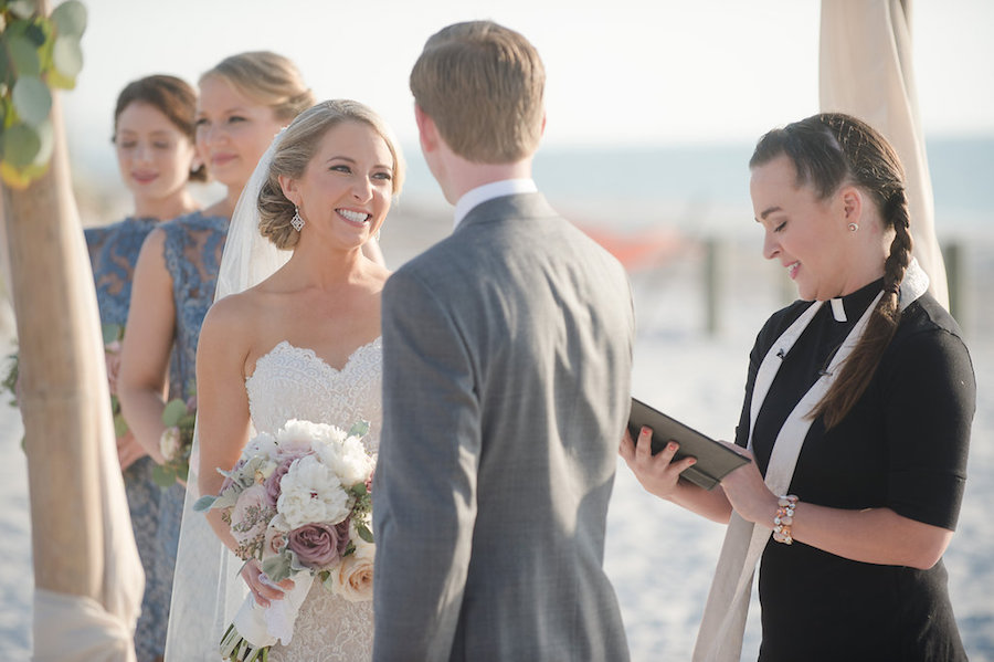 Bride and Groom at Waterfront Clearwater Beach Ceremony | Planner Parties a la Carte | Photographer Marc Edwards Photographs