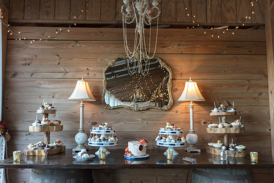 Wedding Dessert Table Ideas with Small Wedding Cake and Sweets by Alessi Bakery