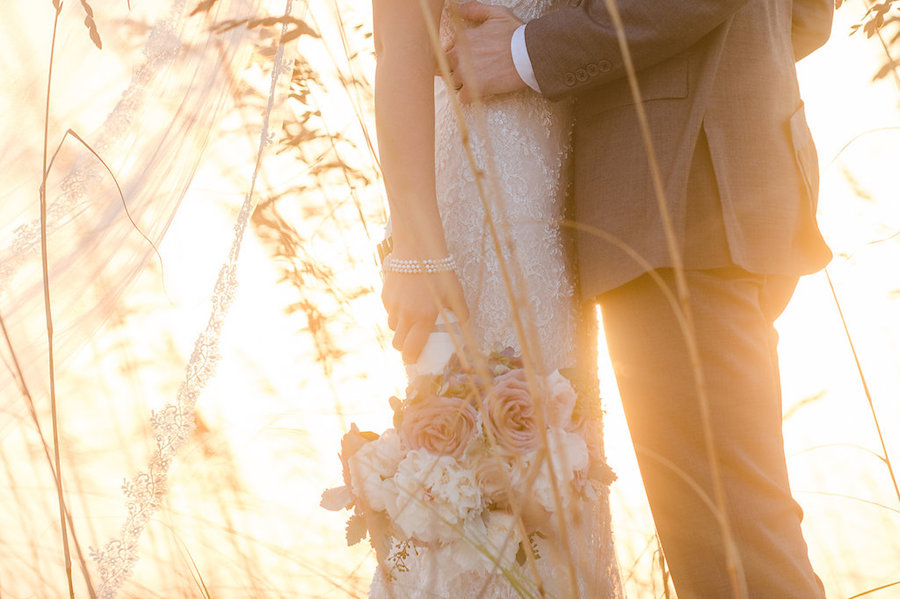 Bride and Groom Clearwater Beach Sunset Wedding Portrait | Clearwater Beach Wedding Planner Parties a la Carte | Photographer Marc Edwards Photographs