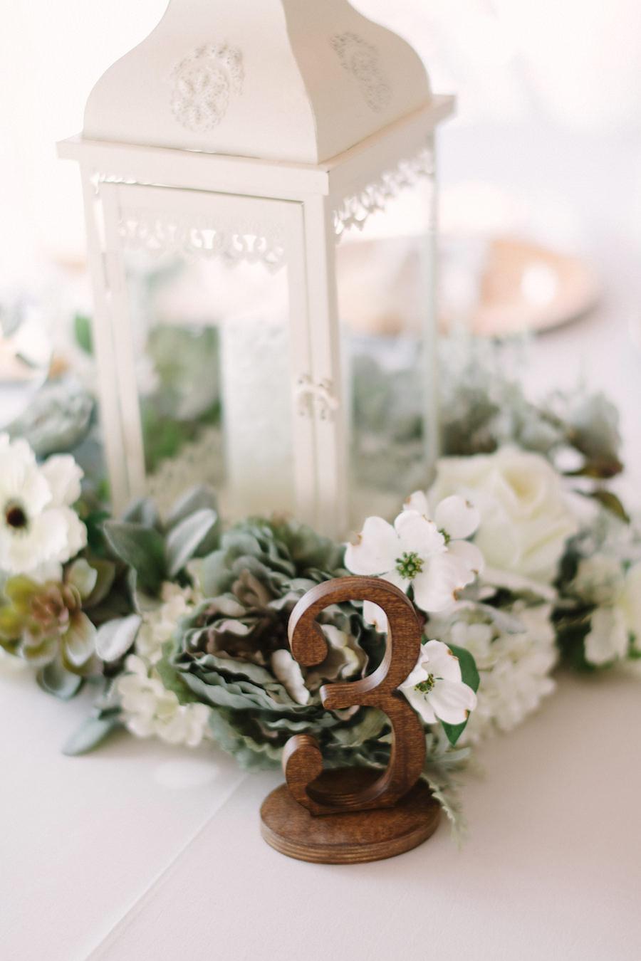 Rustic Elegant Wedding Decor With White Lanterns Wooden