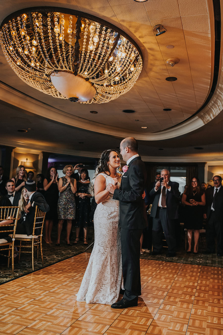 Bride and Groom First Dance at Wedding Reception | Downtown Tampa Wedding Photographer Rad Red Creative | Private Event Venue The Tampa Club