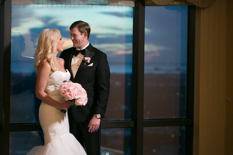 Bride and Groom Wedding Portrait | Wedding Venue The Tampa Club | Tampa Bay Wedding Photographer Carrie Wildes Photography