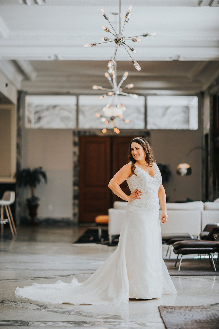 Bridal Wedding Portrait | Downtown Tampa Wedding Photographer Rad Red Creative