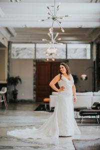 Bridal Wedding Portrait | Downtown Tampa Wedding Photographer Rad Red Creative