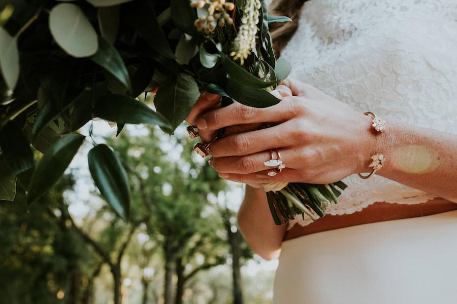 Greenery Filled Wedding Bouquet   Retro Vintage Boho Wedding Inspiration   Tampa Wedding Florist Northside Florist