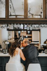 Bride and Groom Wedding Portrait | Downtown Tampa Wedding Photographer Rad Red Creative