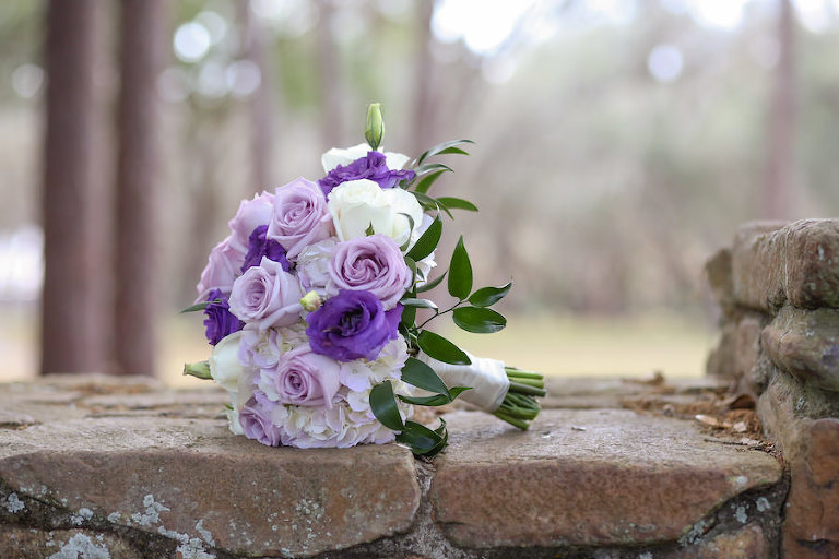 Purple, Ivory and Lilac Roses Bridal Wedding Bouquet | Tampa Wedding Florist Northside Florist