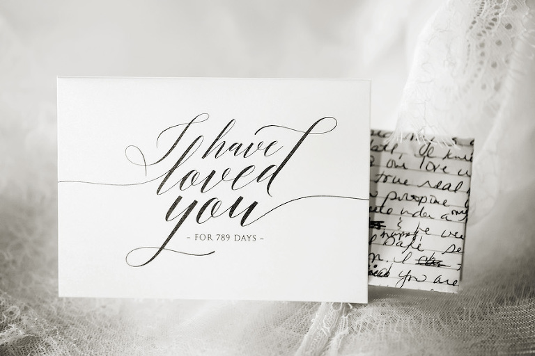 Bride Letter to Groom on Wedding Day with Number of Days | St. Petersburg Wedding Photographer Limelight Photography