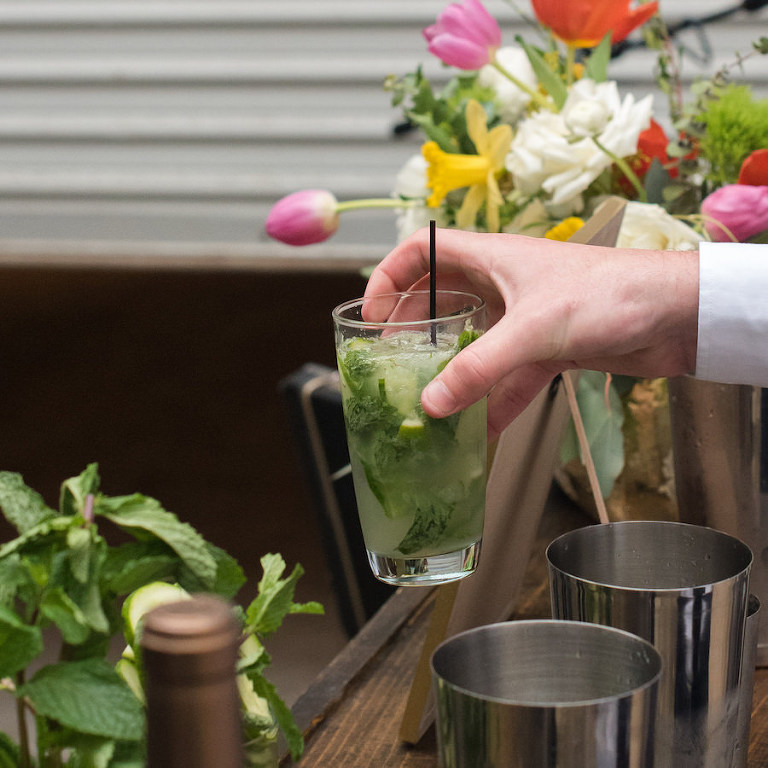 Summer Signature Wedding Drink Ideas | Mocktail Mojito | Tampa Bay Wedding Caterer Saltblock Catering